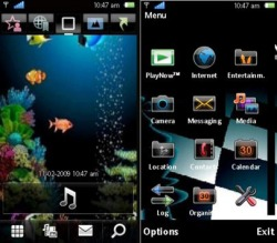 Animated Aqurium Symbian Mobile Phone Theme