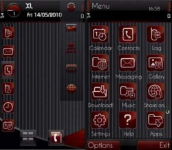 Embossed Icon Symbian Mobile Phone Theme