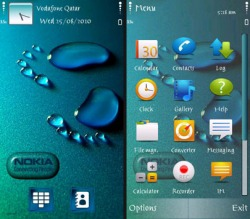 Foot Print Symbian Mobile Phone Theme