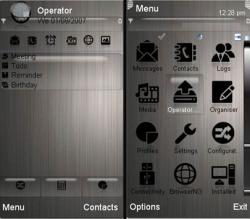 Metallic Symbian Mobile Phone Theme