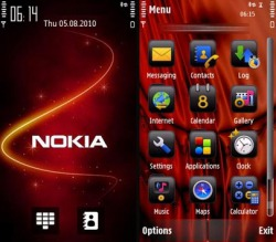 Nokia Red Symbian Mobile Phone Theme
