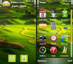 Green Nature Symbian Mobile Phone Theme