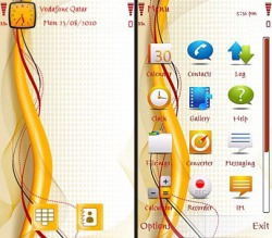 Simple Abstract Symbian Mobile Phone Theme