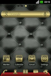 Gold and Leather Go Launcher