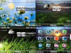 Download Free S40 Theme Live Wallpaper Clock - 811