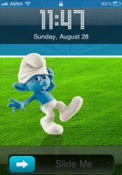 Smurfs iOS Mobile Phone Theme