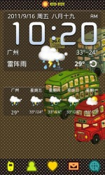 Bus GO Launcher EX Android Mobile Phone Theme