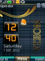 Nokia live clock S40 Mobile Phone Theme