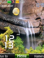 Waterfall Live Clock