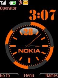 Download Free S40 Theme Nokia Dual Clock - 990