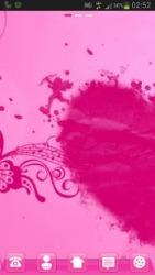 Pink Heart GO Launcher EX