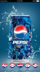 Pepsi Cola CLauncher Android Mobile Phone Theme