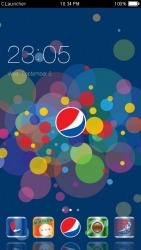 Pepsico CLauncher Android Mobile Phone Theme