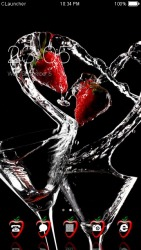 Water Strawberry CLauncher Android Mobile Phone Theme