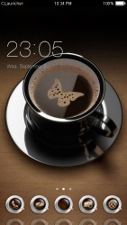 Morning Coffee CLauncher Android Mobile Phone Theme
