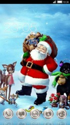 Santa CLauncher Android Mobile Phone Theme