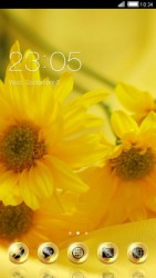 Yellow New Year CLauncher Android Mobile Phone Theme