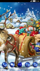 Santas Sleigh CLauncher Android Mobile Phone Theme