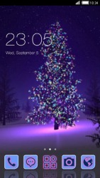Purple Christmas CLauncher Android Mobile Phone Theme
