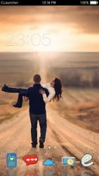 Couple CLauncher Android Mobile Phone Theme