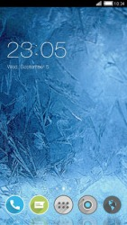 Ice Crystals CLauncher Android Mobile Phone Theme