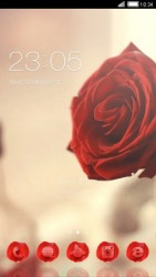 Red Rose CLauncher Android Mobile Phone Theme