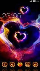 Smoke Heart CLauncher Android Mobile Phone Theme