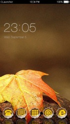 Autumn Leaf  CLauncher Android Mobile Phone Theme