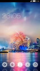 Fireworks CLauncher Android Mobile Phone Theme