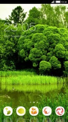 Green Trees CLauncher Android Mobile Phone Theme