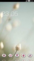 White Flowers CLauncher Android Mobile Phone Theme