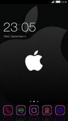 Black Apple CLauncher Android Mobile Phone Theme