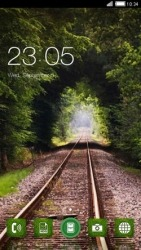 Railway Track CLauncher Android Mobile Phone Theme