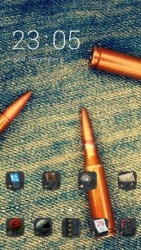 Bullets CLauncher Android Mobile Phone Theme