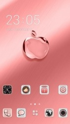 Crystal Apple CLauncher Android Mobile Phone Theme