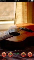 Guitar CLauncher Android Mobile Phone Theme