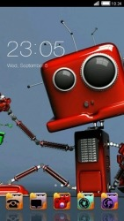 Robot CLauncher Android Mobile Phone Theme