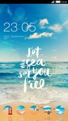 Beach CLauncher Android Mobile Phone Theme