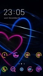 Neon Hearts CLauncher Android Mobile Phone Theme