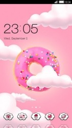Pink Donut CLauncher Android Mobile Phone Theme