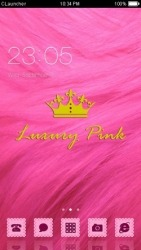 Luxury Pink CLauncher Android Mobile Phone Theme