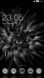 Black Flower CLauncher Android Mobile Phone Theme