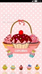 Cupcakes CLauncher Android Mobile Phone Theme