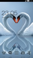 Swan Love CLauncher Android Mobile Phone Theme
