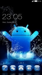 Android Blue CLauncher Android Mobile Phone Theme