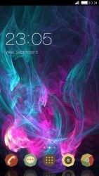 Neon Smoke CLauncher Android Mobile Phone Theme