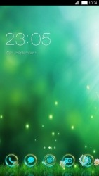 Green CLauncher Android Mobile Phone Theme