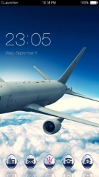 Flight CLauncher Android Mobile Phone Theme