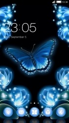 Neon Butterfly CLauncher Android Mobile Phone Theme