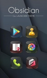 Obsidian GO Launcher Android Mobile Phone Theme